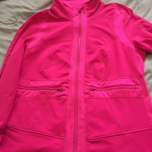 Gently used, pink Zella zip up, size M